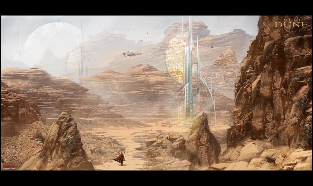 Dune concept art by Mark Molnar