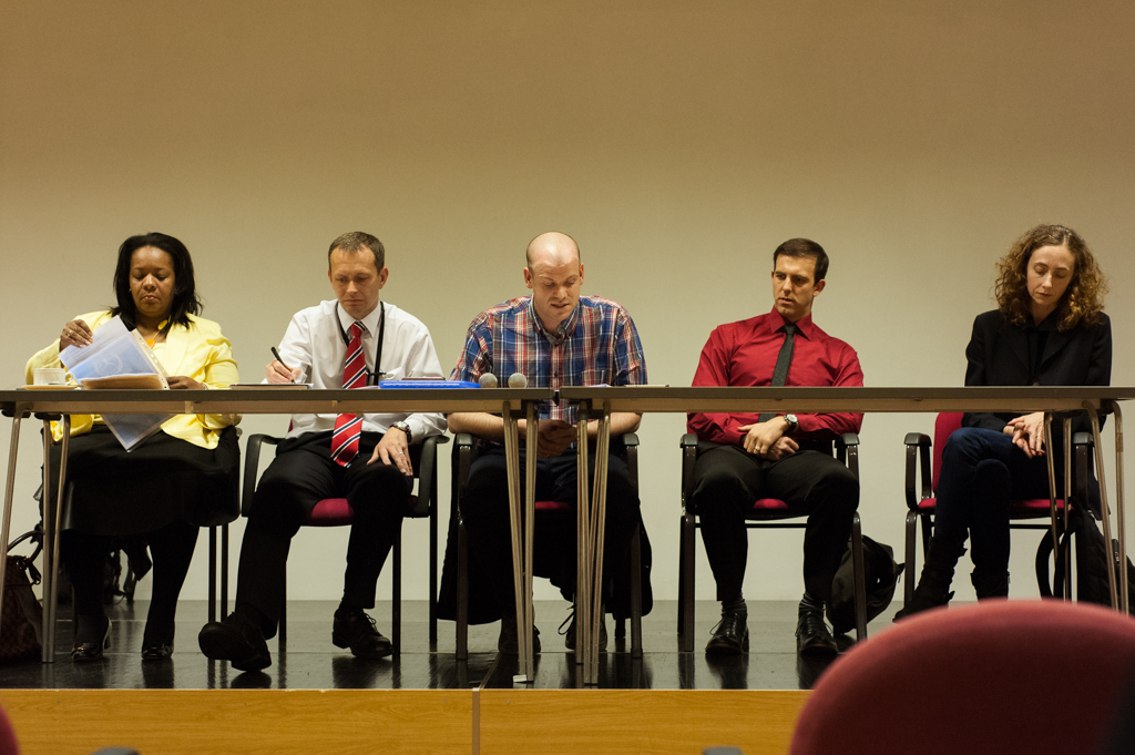 Left to right: Yvonne Mosquito, Sean Russel, presenter Jonathan Hurlow, Dr Damien J. Williams and Dr Hanna Pickard